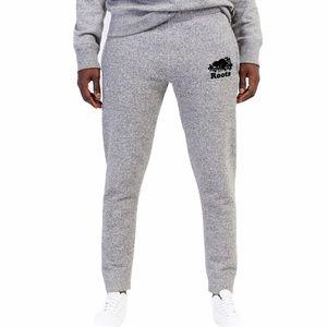 Roots Grey Jogger Logo Sweatpants